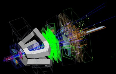 an experiment revealing the decay of beauty meson at cern in 2011 and 2012 Proton-lead ion collision recorded by the alice experiment on 13 september 2012 at a center of mass energy per colliding nucleon-nucleon pair of 502 tev in 2013, the lhc collided protons.